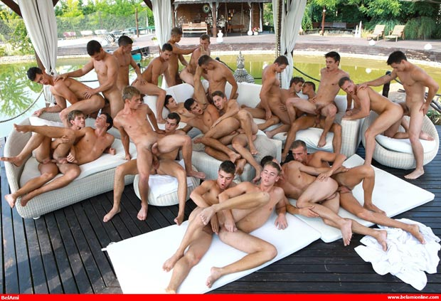 Biggest Orgy Gay Sex 24 Guys